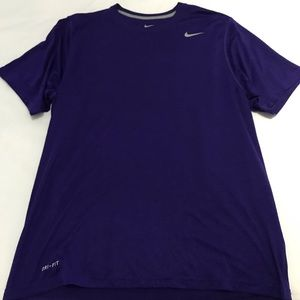 Nike Short Sleeve Purple Dri-Fit Legend Top